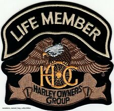 The EAGLE & LIFE MEMBER HOG PATCHES HARLEY OWNERS GROUP HD MC