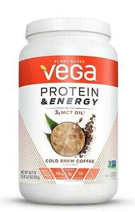 Vega Protein Energy with 3g MCT Oil Cold Brew Coffee 30.9oz 876g 1.93Lb 08/2021