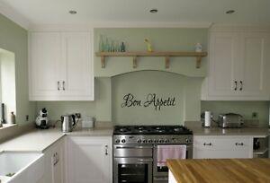 Bon Appetit kitchen vinyl wall art sticker dining room wall decal transfer diy