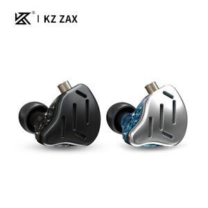 KZ ZAX 16 Units Hybrid Technology Noise Canceling Strong Bass In Ear Earphones