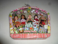 NEW IN BOX KELLY CLUB 5 HOLIDAY BUNCH SET MATTEL BARBIE 2005 NIB CHRISTMAS DOLLS