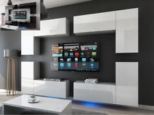 Moderne Wohnwand Schrankwand Hochglanz Wohnzimmer Concept 20 inkl.LED
