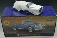 FRANKLIN MINT 1941 LINCOLN CONTINENTAL MARK 1DIE-CAST 1:24 SCALE MODEL L.E. NIB