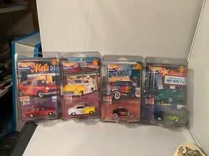 Hot wheels 4 decades of Hot Rod Magazine FULL SET 32 ford, 68 Camaro, 55 Chevy