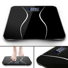 Digital Electronic Bathroom Scale Toughened Glass Bodys Measures Weight 180kg
