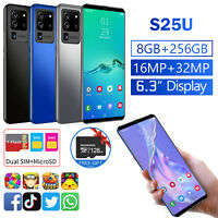 "4G 6.3"" Android 10.0 Dual SIM Unlocked Cell Phone 8+256BG &128GB TF Card 16MP"