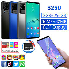 "4G 6.3"" Android 10.0 Dual SIM Unlocked Cell Phone 8+256BG &128GB TF Card 16MP"