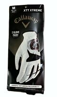 Callaway XTT XTREME Golf Glove Medium Reg Left Men's 2 Glove Pack