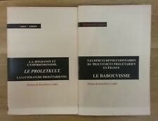 2 livres de ROBERT CAMOIN - LE BABOUVISME et LE PROLETKULT - EN TBE