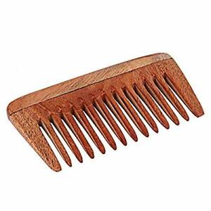 Natural Pure Neem Wood Comb Wide Tooth Wooden Comb For Hair Growth For Women And