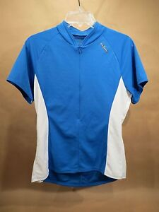 Shebeest Cycling Jersey • Women's Large • Blue & White •USA Made • Road | MTB
