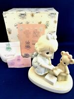 "Precious Moments Figurine ""CARING""  Nurse with bear PM941 Members Only 1994 NIB"