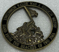 * US Marine Corps Memorial Military Challenge Coin From The Sands Of Iwo Jima