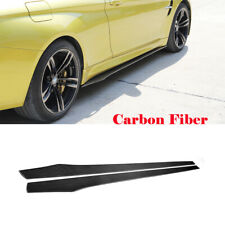Universal Side Skirts For VW GOLF MK5 6 7 AUDI A1 A3 A5 A6 Carbon Fiber 215CM