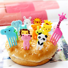 10pcs Bento Cute Animal Fruit Food Picks Forks Lunch Box Accessory Decor Tools