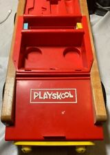 Vintage 1970's Playskool Toy Take Apart Car Wooden Plastic Incomplete Windshield
