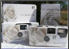5 SOFT WHITE ROSE COLOR FILM DISPOSABLE WEDDING CAMERAS party Favors 35mm 27exp