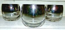 4 Vintage Dorothy Thorpe Silver Fade Roly Poly Bar Glasses