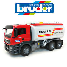 NEW BRUDER 1:16 LARGE MAN TGS PETROL TANK TRUCK WORKING PUMP GERMANY SANDPIT TOY