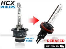HCX Rebased True PHILIPS OEM 4300K 85122 D2S HID Xenon to H7 bulbs 35W Germany