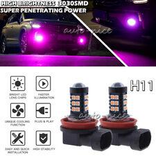 2x H11 H8 H9 H16 30SMD LED Fog Light Daytime Running Bulbs Premium Pink Purple
