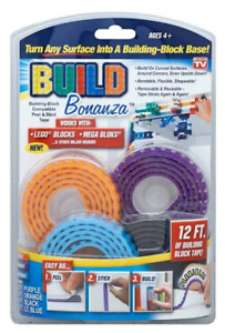 BUILD Bonanza Base Peel Flexible Building Block  in Blue|Purple|Orange/Black New