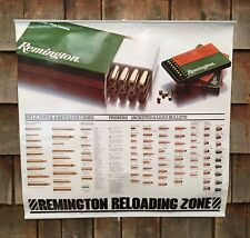 Vintage Remington Ammunition Bullet Riffle Hunting Advertising Poster Sign