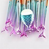 Mermaid Fishtail Eyeshadow Contour Foundation Eye Makeup Brushes Sets Beauty