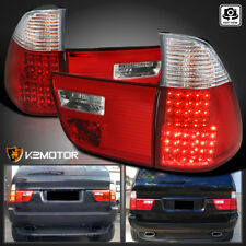 2000-2006 BMW X5 E53 Red Lens LED Tail Lights Rear Brake Lamps Left+Right