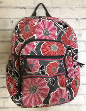 Vera Bradley Cherry Blossom Pink Gray Floral Back Pack School Travel Gym