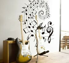 Art Musical Note Wall Quote Decal Decor Home Room Sticker Removable Paper Mural