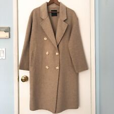 ZARA (SZ S) BEIGE HANDMADE DOUBLE BREASTED COAT NEW W/ OUT TAG