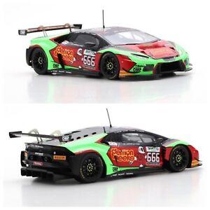 1/43 Spark Lamborghini Huracán GT3 N°666 24H SPA 2016 J.Minshaw Livrais Domicil