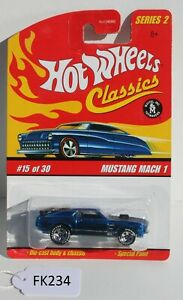 Hot wheels Classics Series 2 Mustang Mach 1 Blue #15 FNQHotwheels FK234
