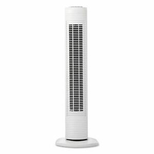 Holmes Oscillating Tower Fan, Three-Speed, White