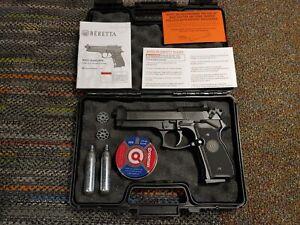 UMAREX Beretta M 92 FS .177 Air Pistol BLACK Gun w/ Case Made in GERMANY