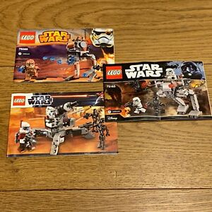3 x original LEGO INSTRUCTIONS ONLY - Star Wars 9488 75089 75165 walkers SW002