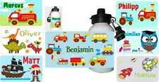 wolga-kreativ Trinkflasche für Kinder mit Name Auto viele Motive zur Auswahl