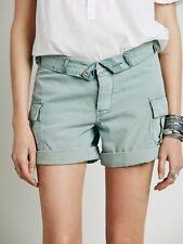 NWT Free People Cargo Foldover Shorts Button Fly Sz 30 10 Green Tea