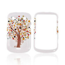 For Blackberry Bold 9930 9900 HARD Case Snap on Phone Cover White Tree