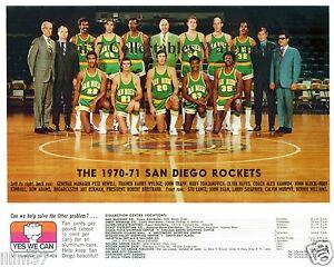1970-71 SAN DIEGO ROCKETS 8X10 TEAM PHOTO ELVIN HAYES CALVIN MURPHY TOMJANOVICH