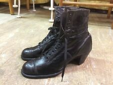 Vtg antique 1900s victorian edwardian gothic steampunk womens boots New sz 525 ?