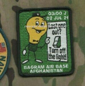Bagram Air Base Afghanistan 02/07/2021 Vêlkrö Patch : un Dernier Out Ourlet Off