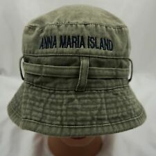 Anna Maria Island Bucket Hat Gray Stitched Cap Pre-Owned ST204