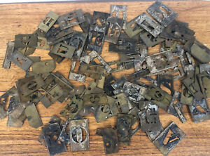 "HUGE LOT vintage Interlocking Brass Letters, Numbers 2 1/2"" & 3 """