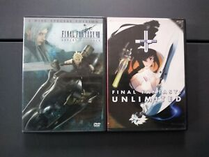 Final Fantasy VII Advent Children, Unlimited, Lot of 2 Anime, English, 13+