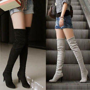 Sexy Pointed Toe Over The Knee Women Boots High Heel Autumn Winter Women Boots