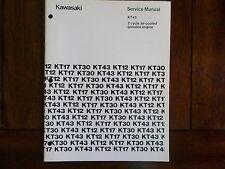 Kawasaki KT43 2 Cycle Air Cooled Gasoline Engine Service Manual