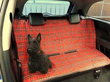 Tartan rouge pet chien housse siège voiture boot imperméable protecteur dos couverture arrière
