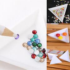 5× Container Holder Tray Triangle Phone / Craft Nail Art Rhinestones Gems Beads